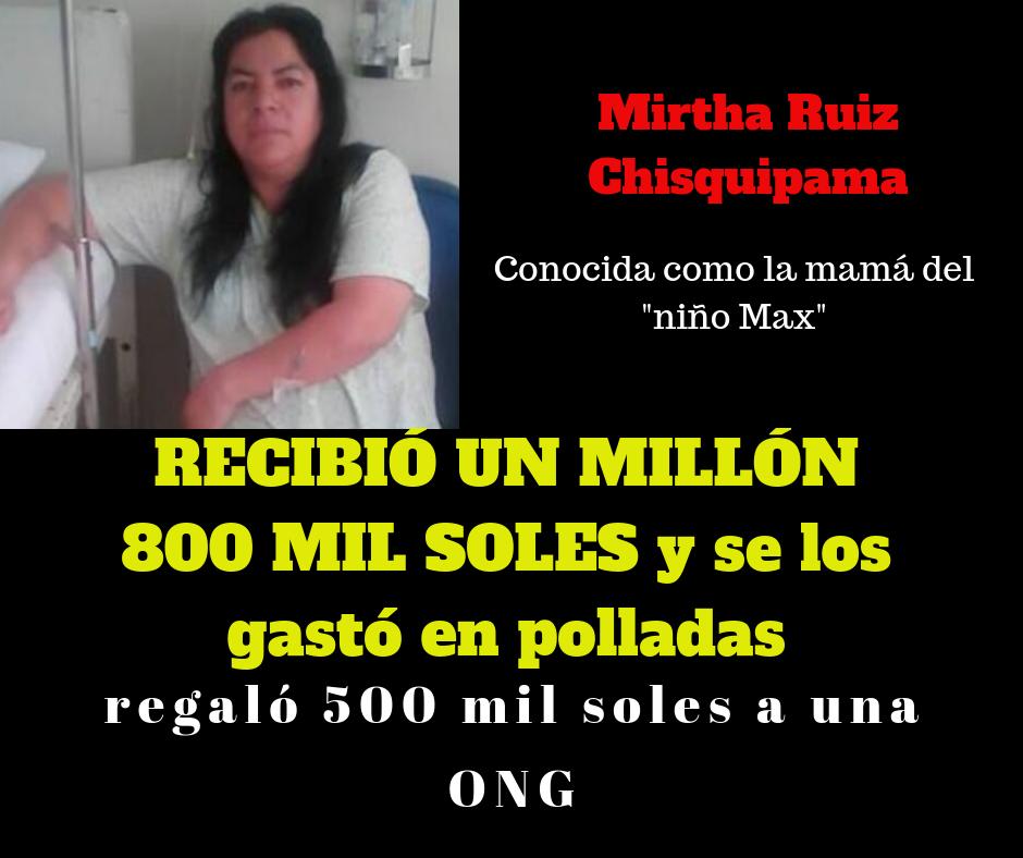 Mirtha Ruiz, mamá del niño Max, regaló 500 mil a una ONG, en lugar de invertirlo en la recuperación de su hijo